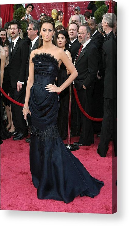 Academy Awards Acrylic Print featuring the photograph Penelope Cruz Wearing A Chanel Haute by Everett