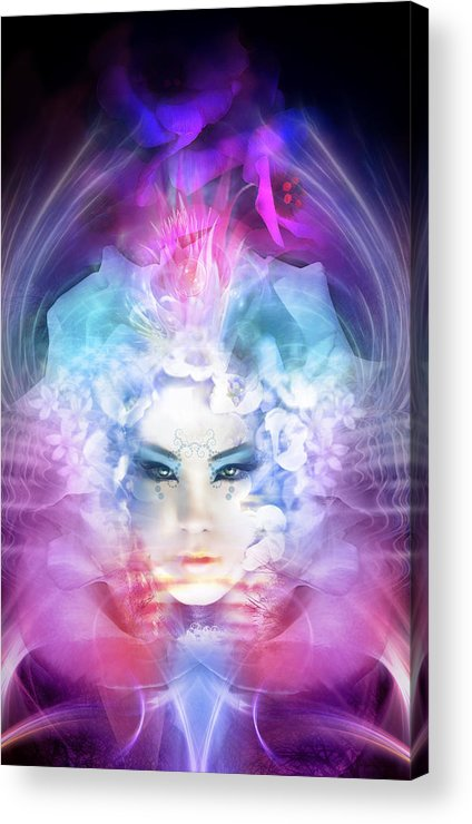 Goddess Acrylic Print featuring the mixed media Rebirth by Philip Straub