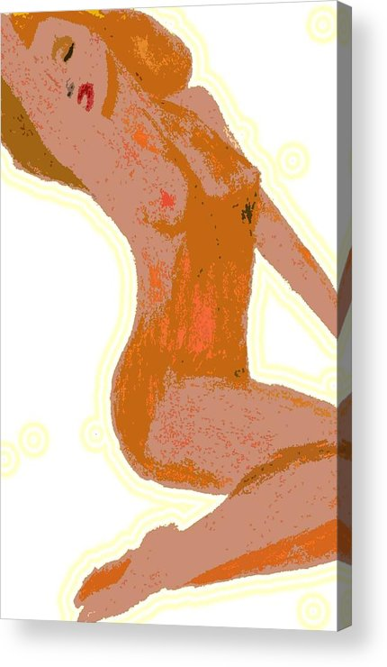 Nude Acrylic Print featuring the drawing Marilyn by Jennifer Ott