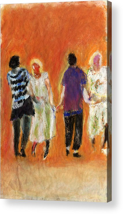 Dancers Acrylic Print featuring the painting Dancers by Bill Collins