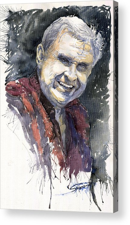 Watercolour Acrylic Print featuring the painting Alex by Yuriy Shevchuk