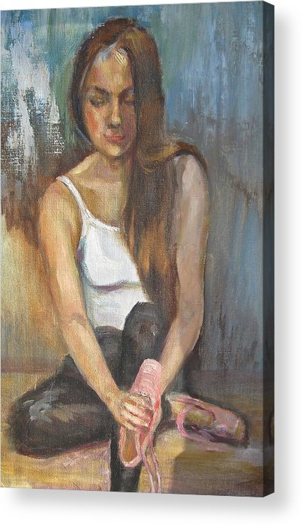 Ballet Acrylic Print featuring the painting At The End Of The Day by Catherine Lawhon