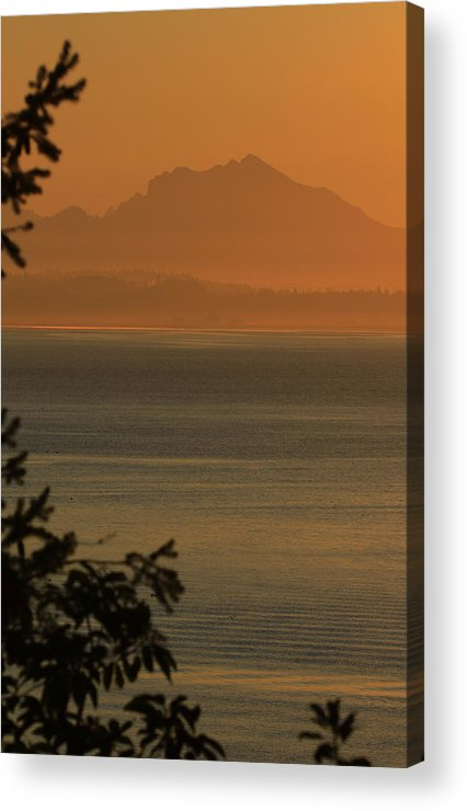 Orange Acrylic Print featuring the photograph Cascade Sunrise by Tammy Hankins