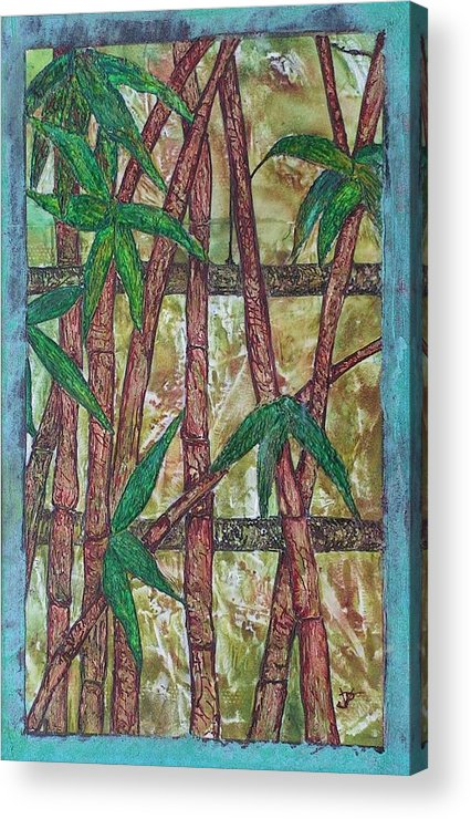 Bamboo Acrylic Print featuring the painting Bamboo by John Vandebrooke
