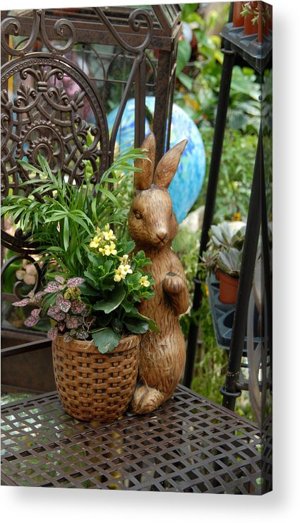 Colorful Easter Bunnies Easter Bunny Acrylic Print featuring the photograph Bunny 63 by Joyce StJames