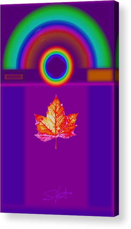 Classical Acrylic Print featuring the digital art Canadian Palladian by Charles Stuart