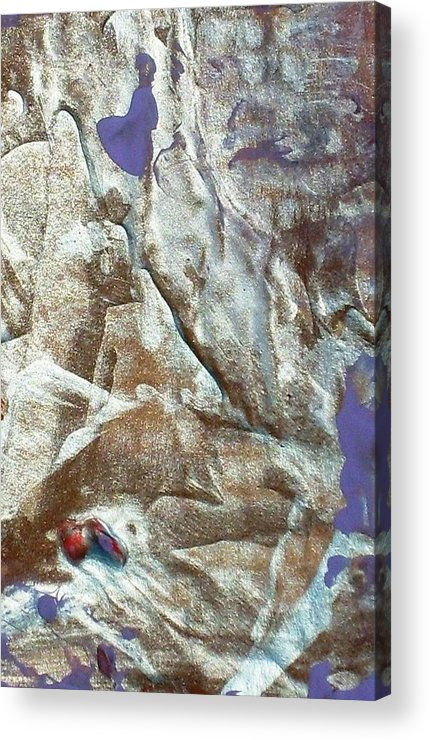 Abstract Acrylic Print featuring the painting Courage by Bruce Combs - REACH BEYOND