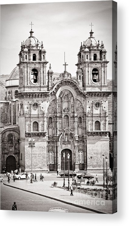 35mm Acrylic Print featuring the photograph Cusco Cathedral by Darcy Michaelchuk