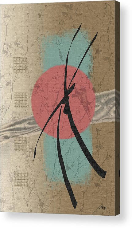 Contemporary Asian Japanese Oriental Abstract Sun Sunrise Sunset G Acrylic Print featuring the painting Daybreak by Gordon Beck