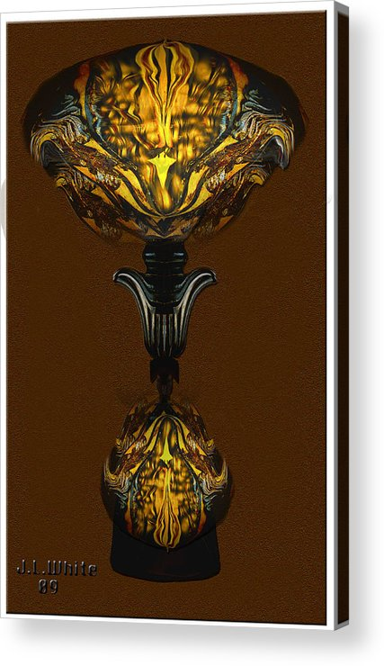 A Double Lamp Of Unusual Design Acrylic Print featuring the digital art Double Lamp by Jerry White