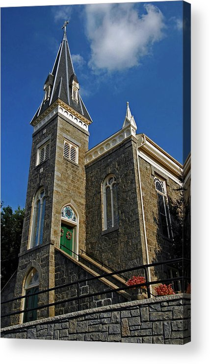 Ellicott City Acrylic Print featuring the photograph Ellicott City Steeple by Murray Bloom