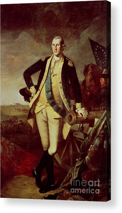 Bal28610 Acrylic Print featuring the painting George Washington At Princeton by Charles Willson Peale