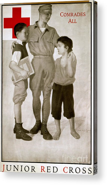 1919 Acrylic Print featuring the photograph Junior Red Cross Poster by Granger
