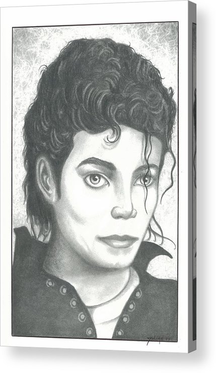Popart Acrylic Print featuring the drawing M. J. by Julian B