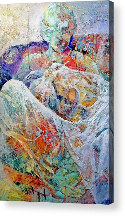 Parent Acrylic Print featuring the painting New Arrival by Dale Witherow