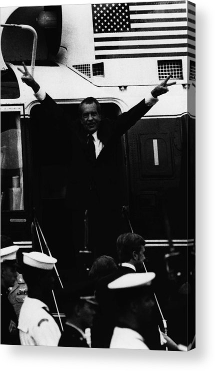 1970s Acrylic Print featuring the photograph Nixon Presidency.  Former Us President by Everett