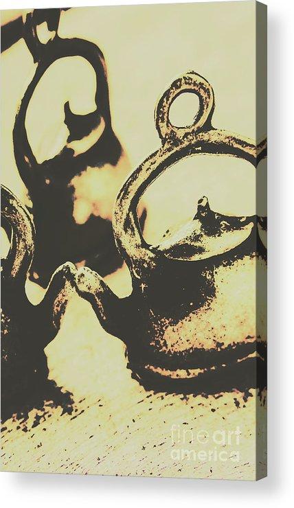 Antique Acrylic Print featuring the photograph Nostalgic Tea Break by Jorgo Photography - Wall Art Gallery