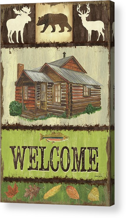 Cabin Acrylic Print featuring the painting Open Season Panel by Debbie DeWitt