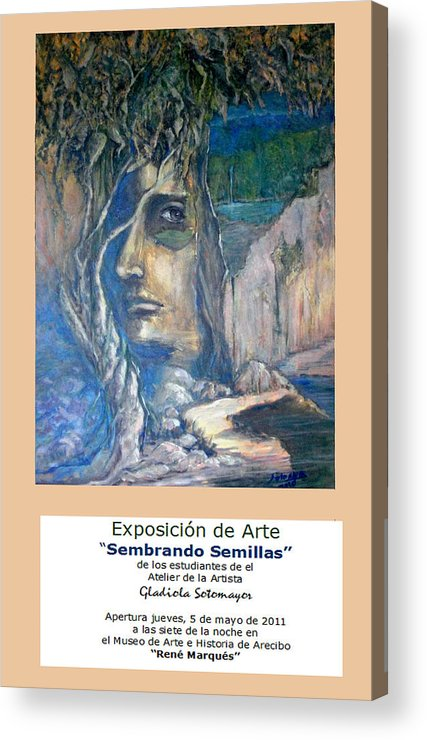 Poster Acrylic Print featuring the digital art Poster Expo Event by Gladiola Sotomayor