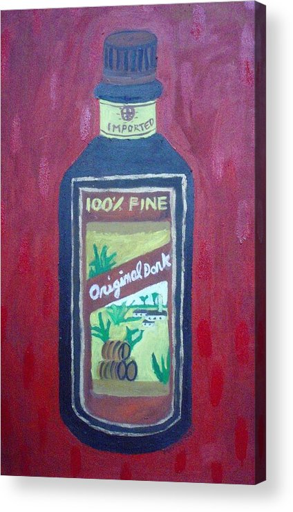 Oil On Canvas Acrylic Print featuring the painting Rum by Patrice Tullai