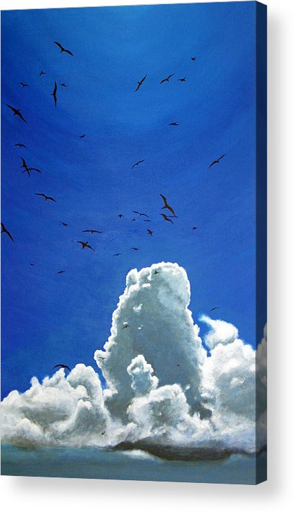 Birds Acrylic Print featuring the painting Sanctuary by Fiona Jack
