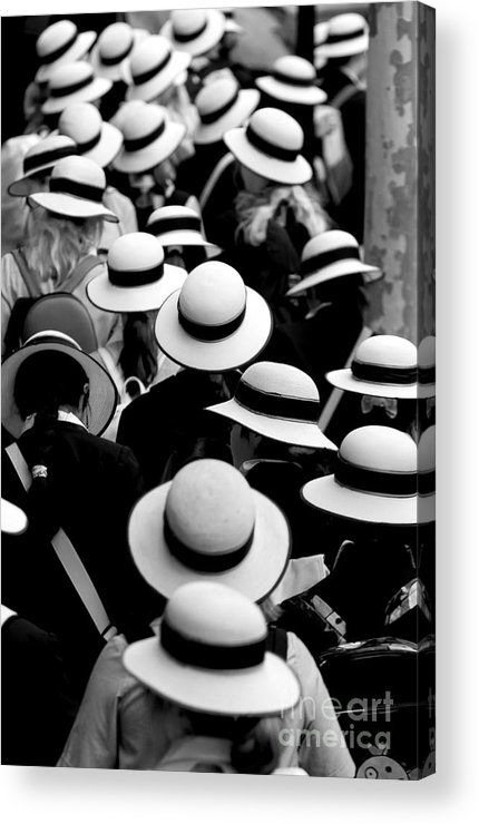 Hats Schoolgirls Acrylic Print featuring the photograph Sea Of Hats by Sheila Smart Fine Art Photography