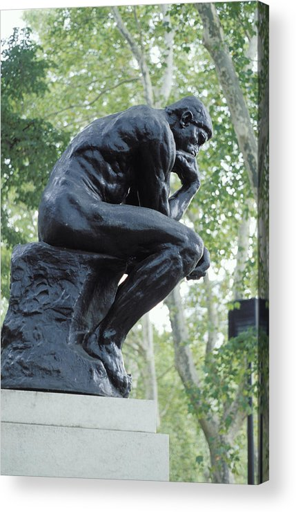 Statue Acrylic Print featuring the photograph The Thinker By Rodin by Carl Purcell