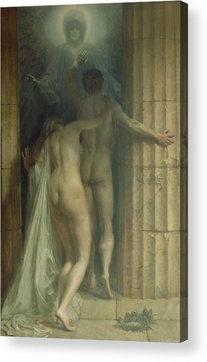 Til Death Us Do Part Acrylic Print featuring the painting Till Death Us Do Part by SCH Goetze