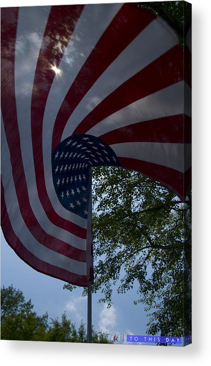 Flag Acrylic Print featuring the photograph To This Day by Jonathan Ellis Keys