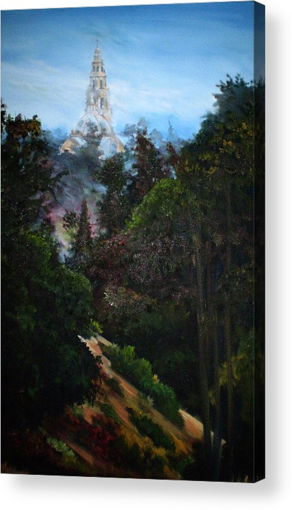 Balboa Park Acrylic Print featuring the painting Tower West Of 163 by Duke Windsor
