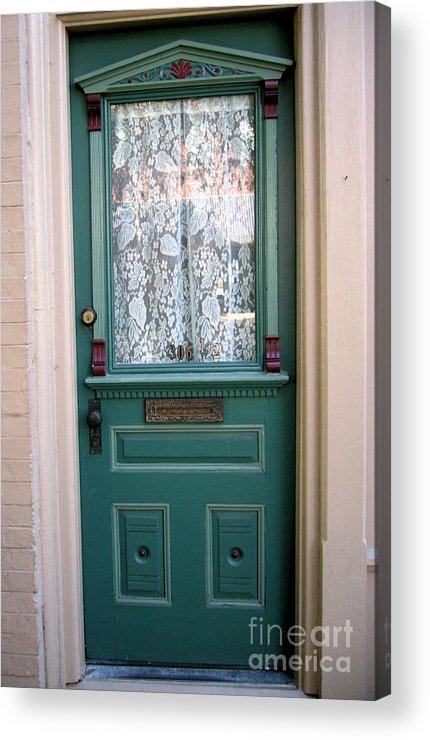 Door Acrylic Print featuring the photograph Victorian Door by Barbara Oberholtzer