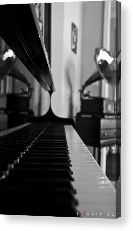 Piano Acrylic Print featuring the photograph Waiting by Jonathan Ellis Keys