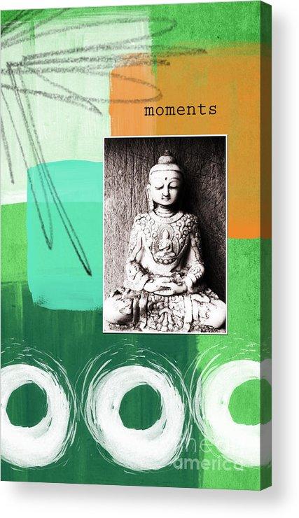 Zen Acrylic Print featuring the mixed media Zen Moments by Linda Woods
