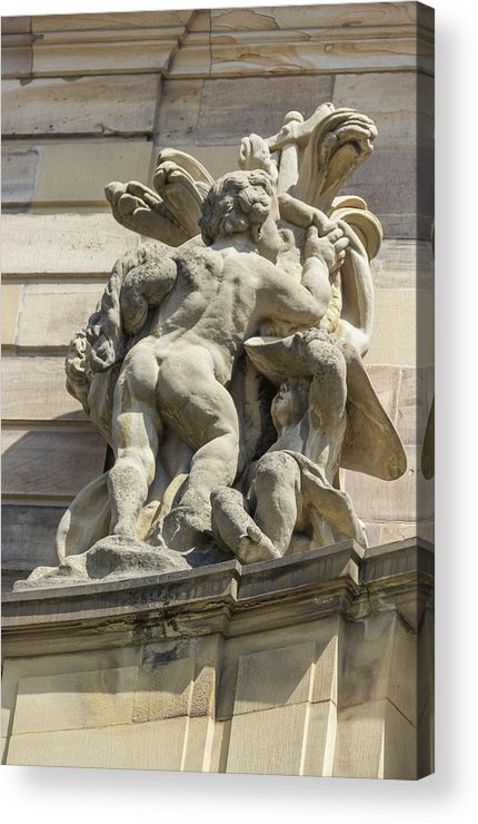 Alsace Acrylic Print featuring the photograph Rohan Palace Sculpture by Teresa Mucha