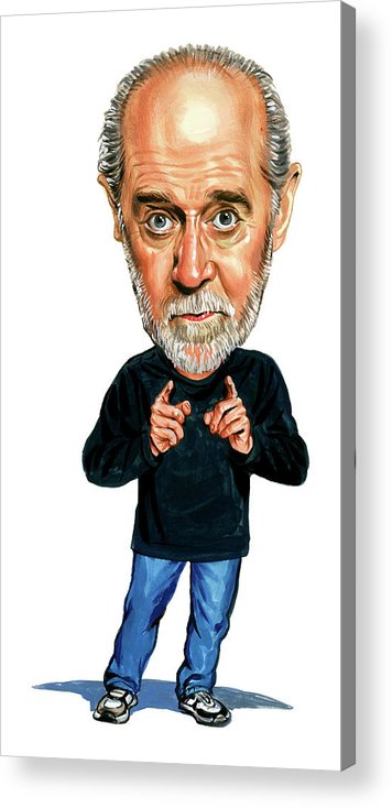 George Carlin Acrylic Print featuring the painting George Carlin by Art