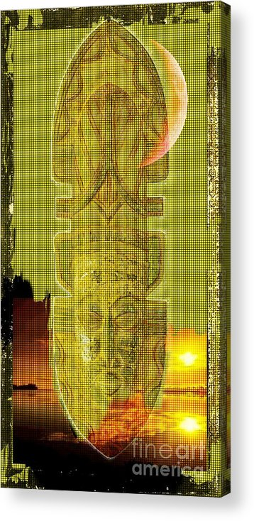 African Art Acrylic Print featuring the digital art Mystical by Hasseem Abdallah