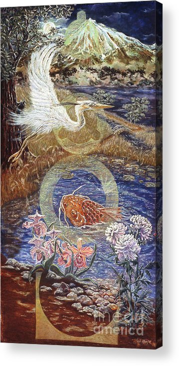 Interior Design Decor Acrylic Print featuring the painting Spirit Rising by Gail Allen