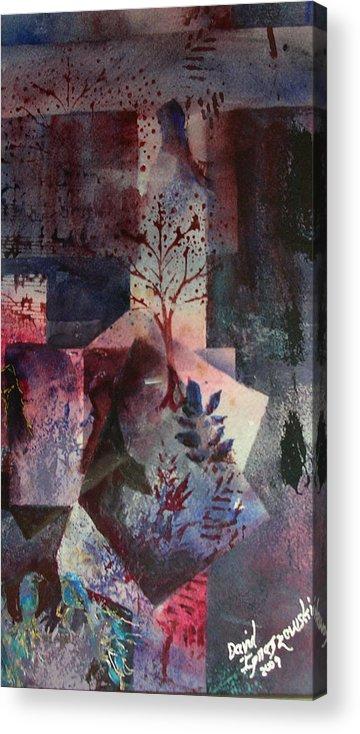 Dark Tree Amish Acrylic Print featuring the painting Amish Abstract 3 by David Ignaszewski