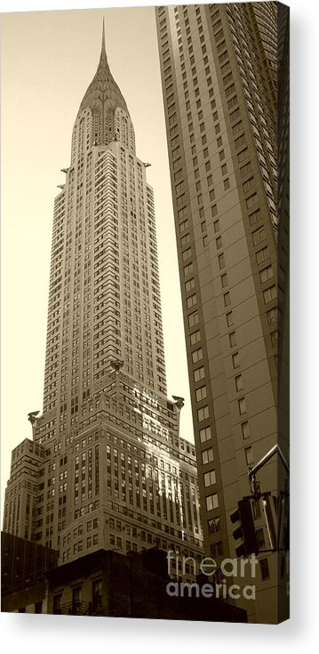 New York Acrylic Print featuring the photograph Chrysler Building by Debbi Granruth