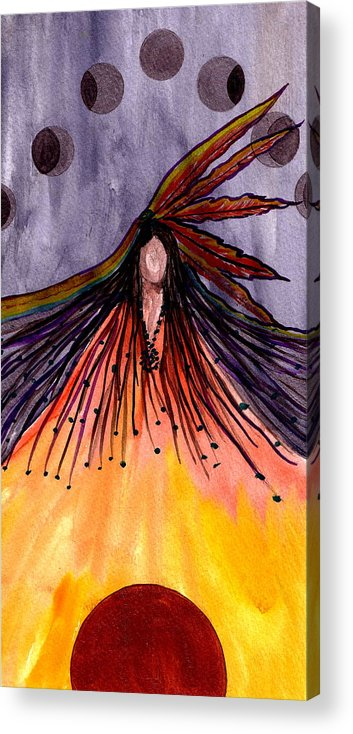 Original Ar Acrylic Print featuring the painting Sister Moon by K Hoover