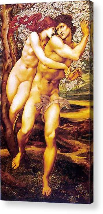 Tree Acrylic Print featuring the painting Tree Of Forgiveness by BurneJones Edward