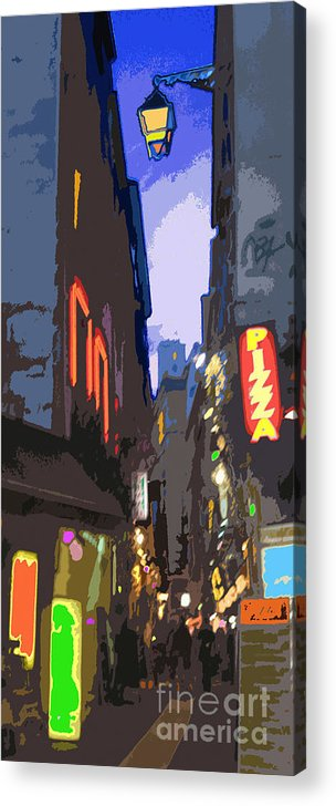 Paris Acrylic Print featuring the photograph Paris Quartier Latin 01 by Yuriy Shevchuk