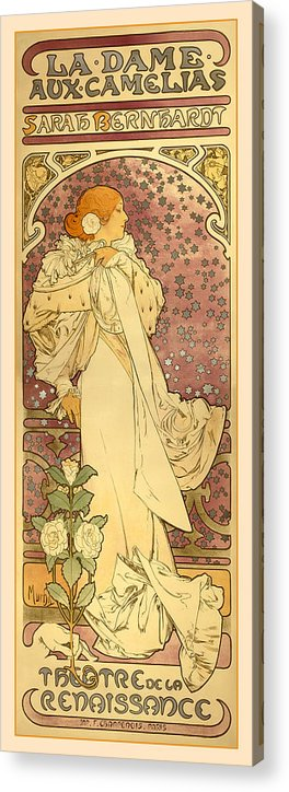 Antique Acrylic Print featuring the digital art La Dame by Gary Grayson