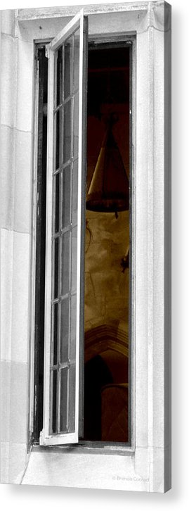 Window To The Past Acrylic Print featuring the photograph Window To The Past 2 by Brenda Conrad