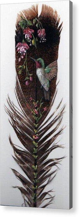 Hummingbird Acrylic Print featuring the painting Hummingbird by Theresa Jefferson