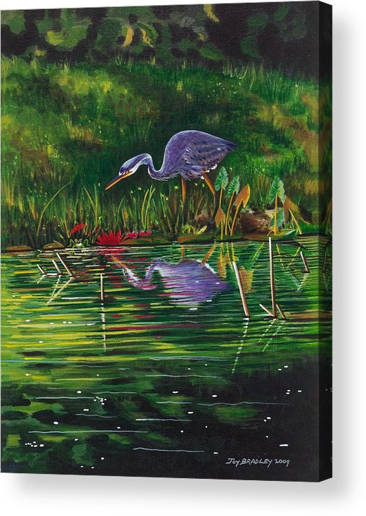 Designs Acrylic Print featuring the painting Food Chain  by Joy Bradley
