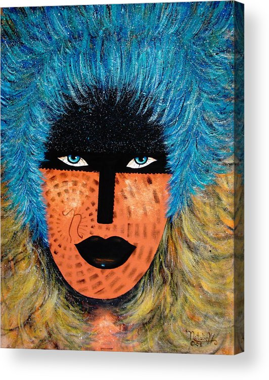 Woman Acrylic Print featuring the painting Viva Niva by Natalie Holland