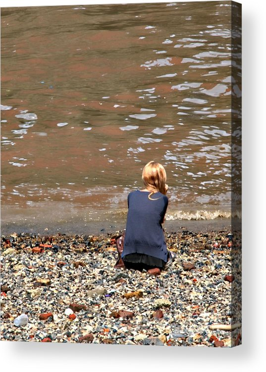 Girl Acrylic Print featuring the photograph Solitude by Daniela White