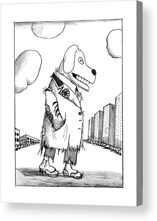 118395 Sst Saul Steinberg (drawings Depict Various Animals And Other Creatures In Egypt Acrylic Print featuring the drawing New Yorker February 23rd, 1976 by Saul Steinberg