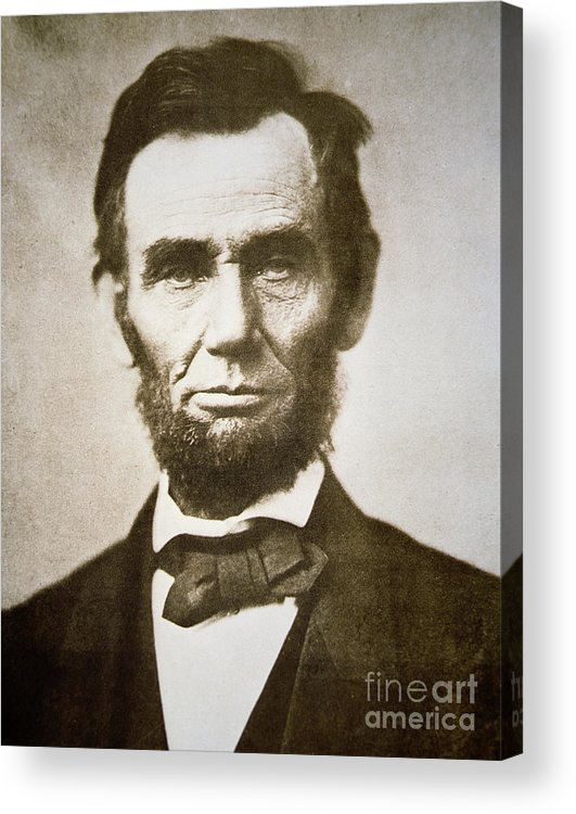 Abraham Acrylic Print featuring the photograph Abraham Lincoln by Alexander Gardner